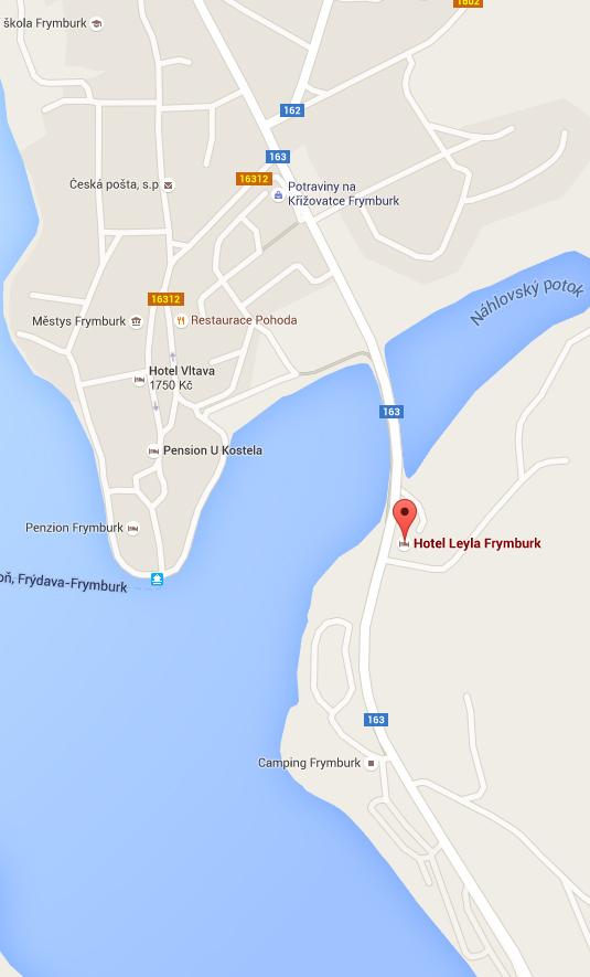 Mapa Hotel Leyla