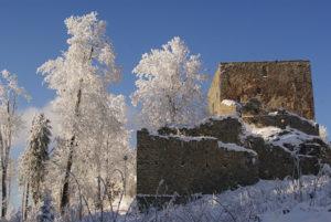 Zřícenina hradu Vítkův Hrádek